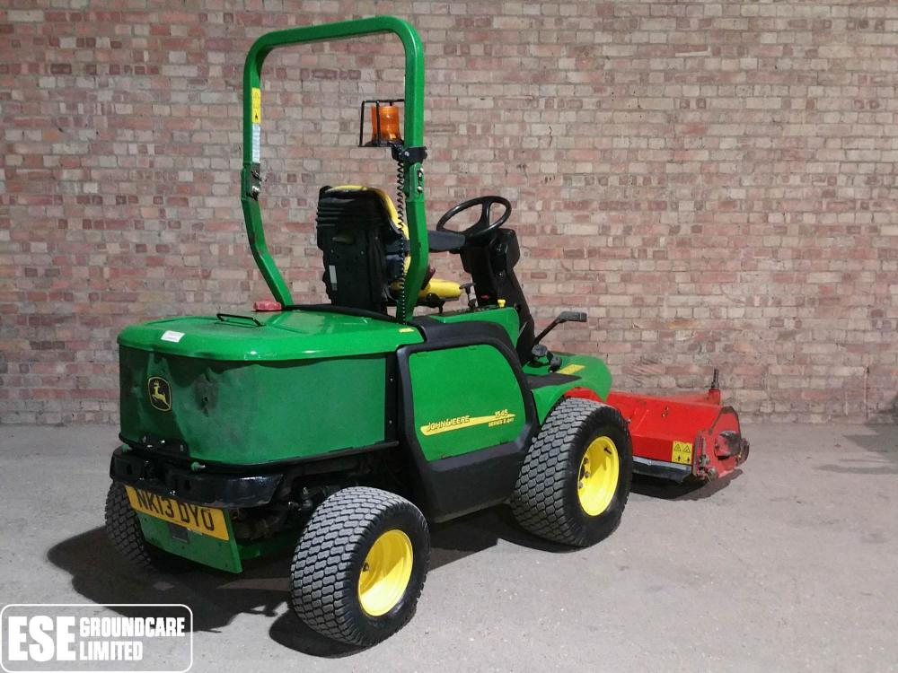 John Deere 1545 c/w Trimax Flail for Sale - E S E Groundcare Ltd